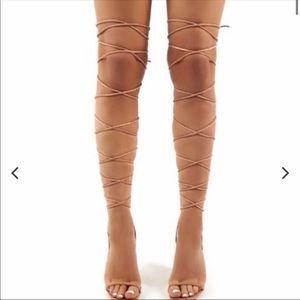 Public Desire Nude Multi -way option Nude heels